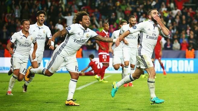 Carvajal marcó el gol de la victoria en la Supercopa para el Madrid