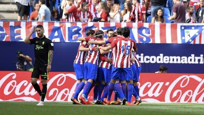 El Atlético de Madrid goleó al Sporting de Gijón