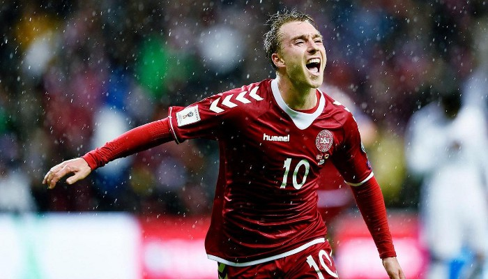 Eriksen marcó el gol de la victoria de Dinamarca