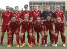 Fútbol femenino: España arrolla a Montenegro (13-0) en Las Rozas
