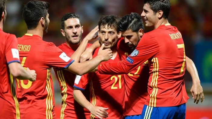 España goleó a Liechtenstein