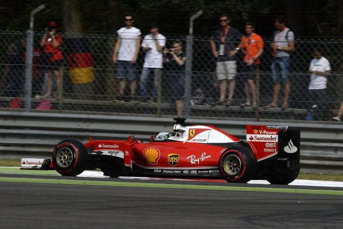 Ferrari en el GP de Italia