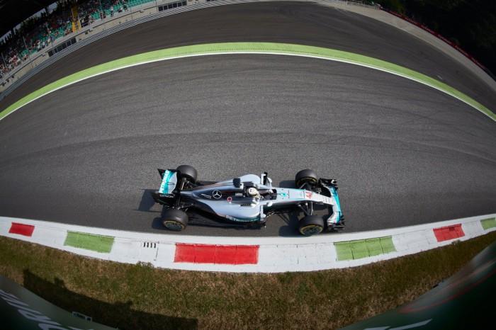 Mercedes en el GP de Italia