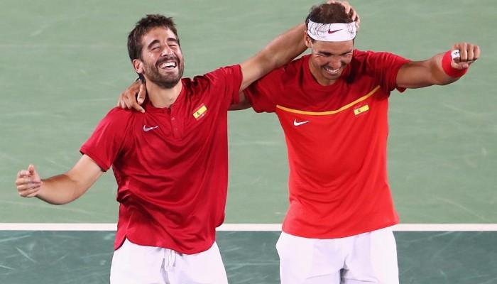 Nadal y López celebran el regreso de España al Grupo Mundial