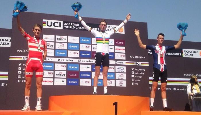 Brandon McNulty ganó la crono junior en el Mundial de 2016