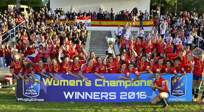 España campeona de Europa de rugby XV