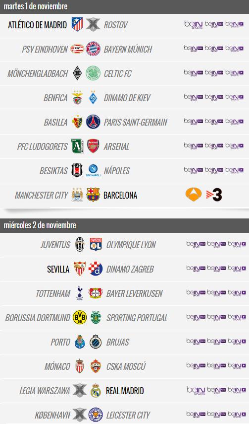 Champions League - Jornada 4
