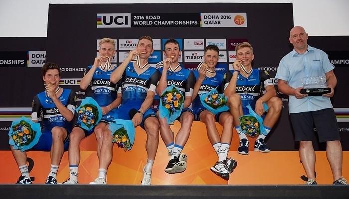 El equipo belga Etixx Quick Step ganó la crono por equipos del Mundial 2016