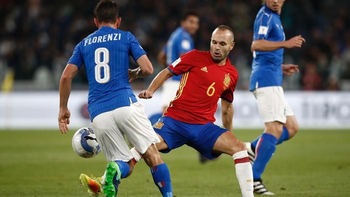 Italia y España empataron a uno en Turín