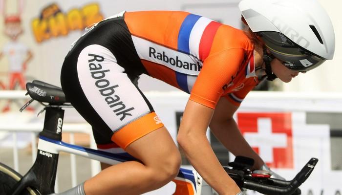 Swinkels conquistó el oro en la crono junior femenina