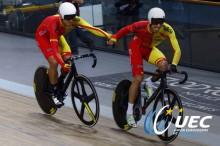 Dos oros, una plata y un bronce, el botín de España en los Europeos de ciclismo en pista de 2016