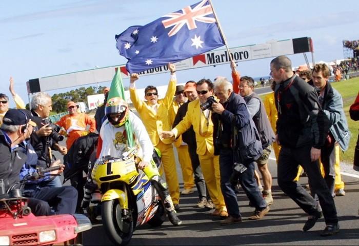 Rossi se proclamaba campeón del mundo
