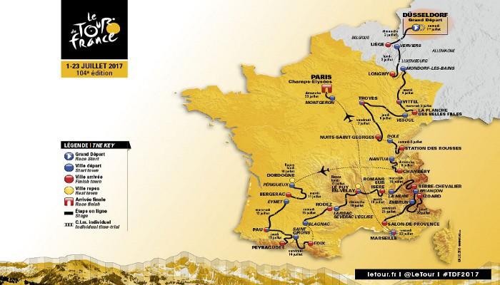 Recorrido del Tour de Francia de 2017