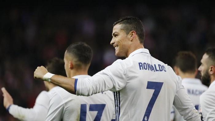 Cristiano logró un hattrick ante el Atlético de Madrid