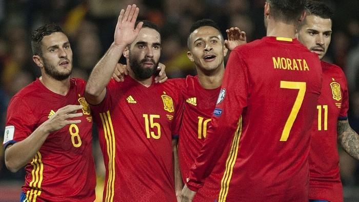 España ganó a Macedonia en su camino a Rusia 2018