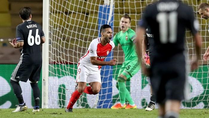 Falcao marcó dos goles con el Mónaco en Champions