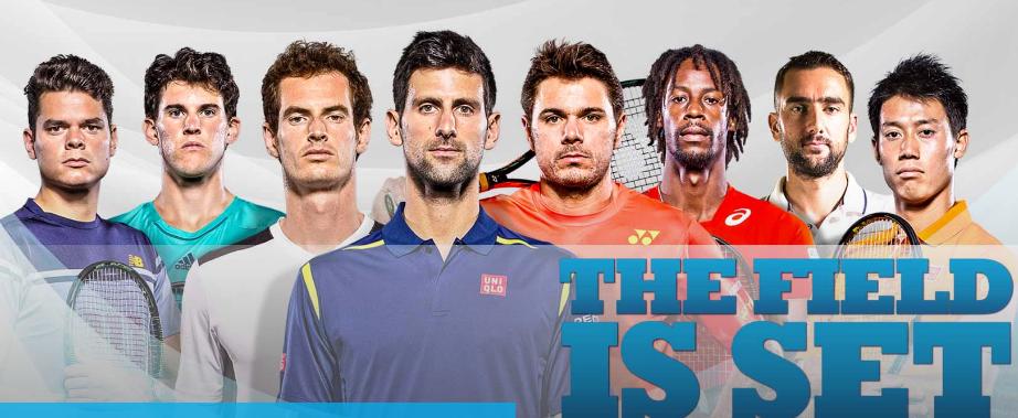 Copa de Maestros Londres 2016: Djokovic, Murray, Wawrinka, Raonic, Nishikori, Monfils, Cilic y Thiem son los tenistas clasificados