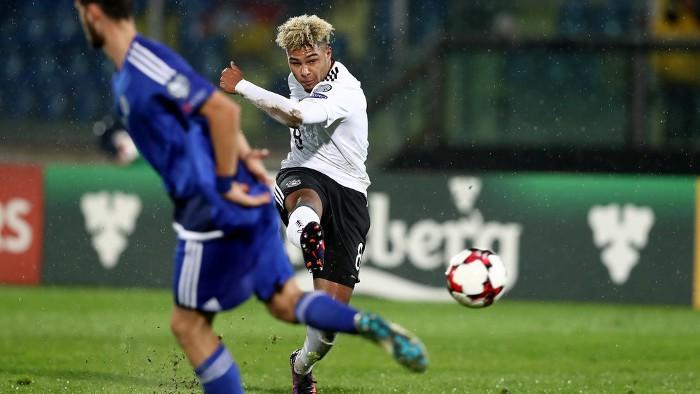 Gnabry debutó con Alemania marcando tres goles