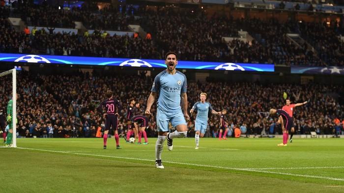 Gundogan marcó dos goles en la victoria del City ante el Barça