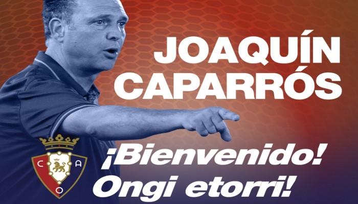 Joaquín Caparrós entrenará a Osasuna