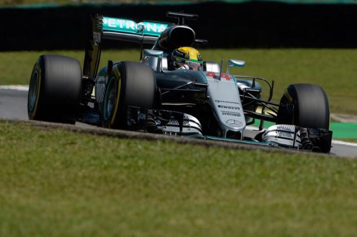 Lewis Hamilton en Brasil