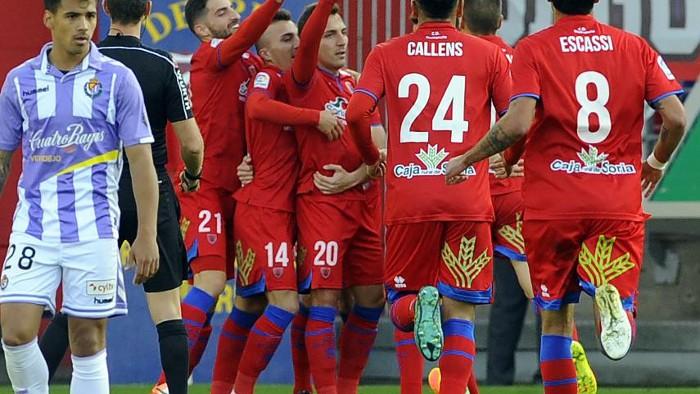 El Numancia se llevó la victoria en el derby vallisoletano