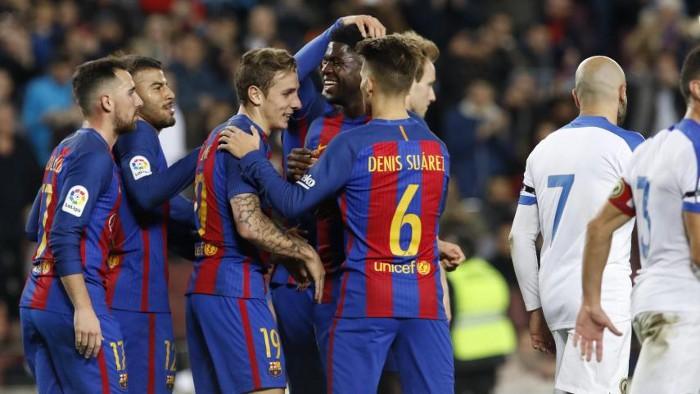 El Barcelona goleó al Hércules para seguir adelante en Copa