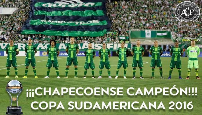 Chapecoense ha sido proclamado campeón de la Copa Sudamericana 2016