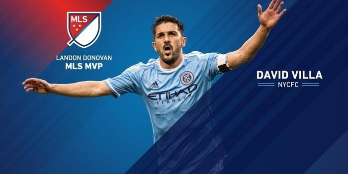 David Villa fue el MVP de la temporada en la MLS