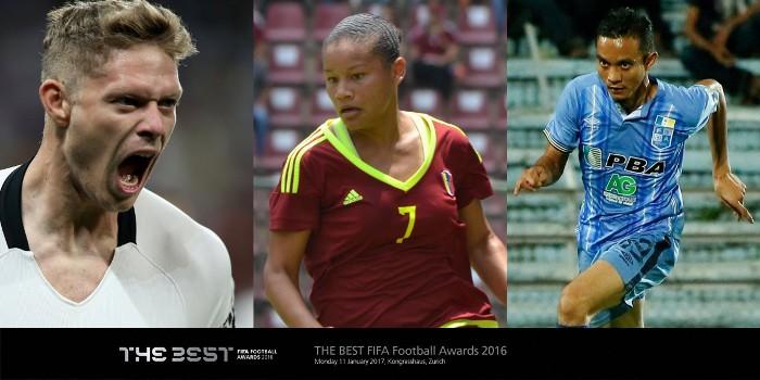 Estos son los tres finalistas del Premio Puskas de 2016