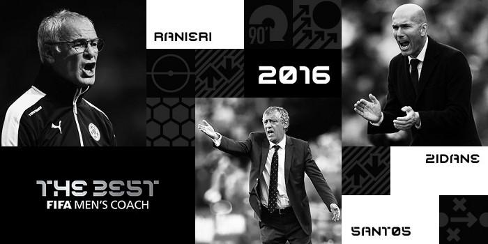 Ranieri, Santos y Zidane en busca del premio al mejor entrenador