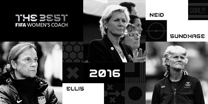 Las tres nominadas al premio a Mejor Entrenadora de Fútbol Femenino