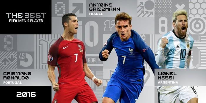 Cristiano, Griezmann y Messi en la pugna por el premio FIFA The Best