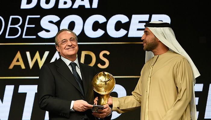 Florentino Pérez recogió varios premios en los Globe Soccer Awards 2016