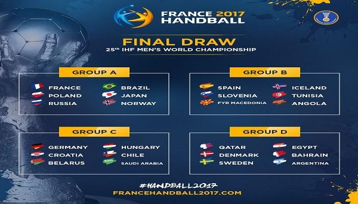 El sorteo de la fase de grupos del Mundial de balonmano 2017