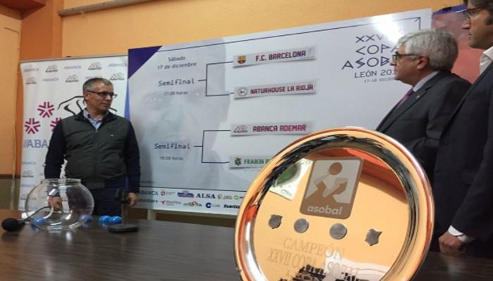Sorteo de las semifinales de la Copa ASOBAL 2016