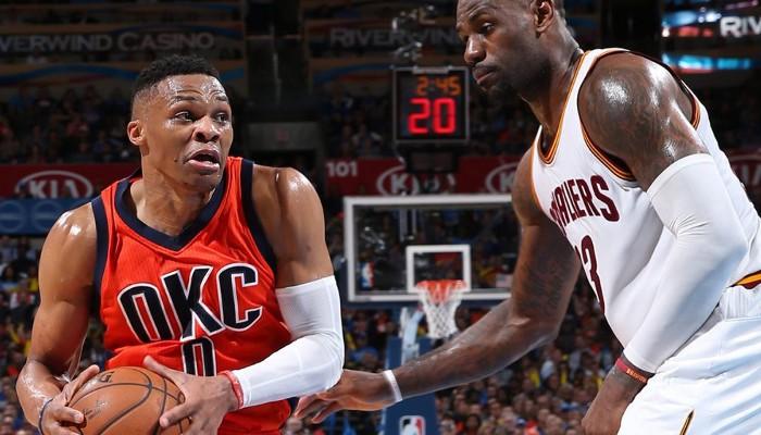 Westbrook y James han sido los mejores del mes de noviembre de 2016