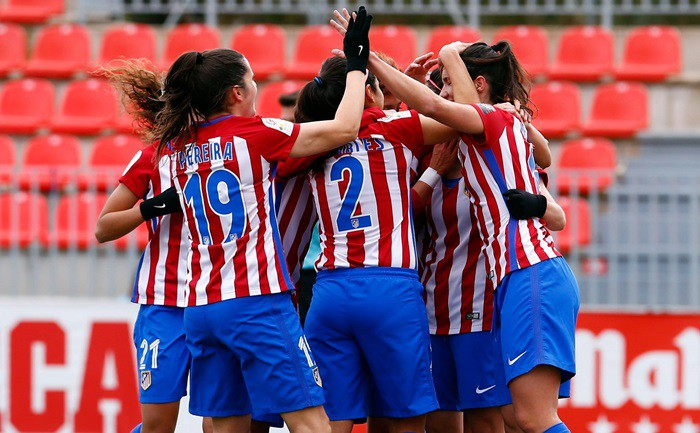 El Atlético no dio opción al Zaragoza