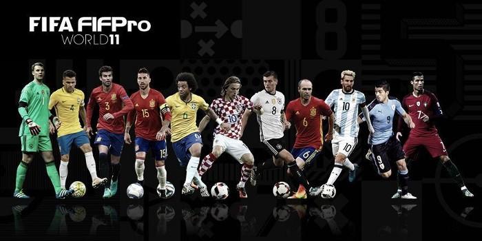 El Once Ideal de FIFPro de 2016