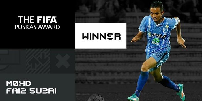 El malayo Faiz Subri se llevó el premio al mejor gol de 2016