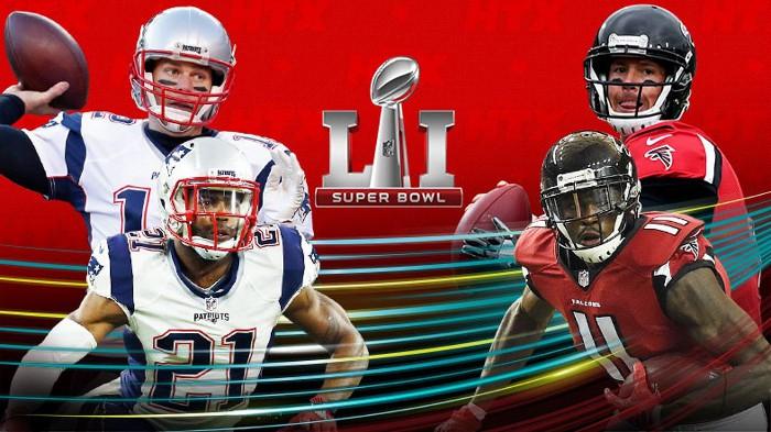 Falcons y Patriots jugarán la LI Super Bowl