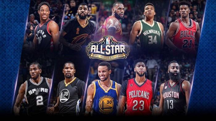 Quintetos titulares del NBA All Star 2017