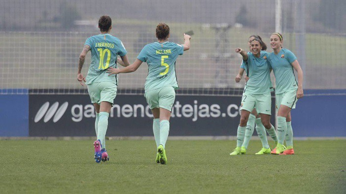 El Barça vence en Zubieta