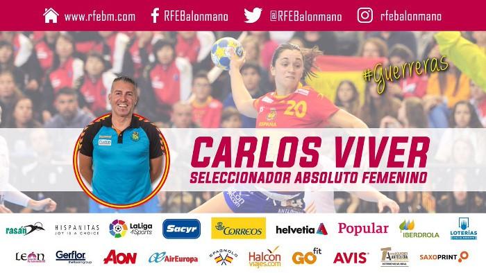 Carlos Viver es el nuevo seleccionador de el equipo de balonmano femenino español