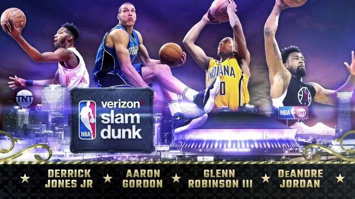 Los participantes del concurso de mates en el NBA All Star 2017