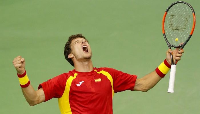 España sufrió pero pasó de la primera ronda de la Copa Davis