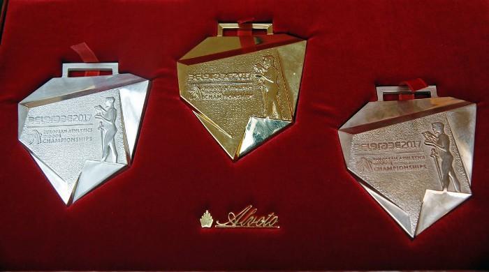 Las medallas que se darán en el Europeo de pista cubierta Belgrado 2017