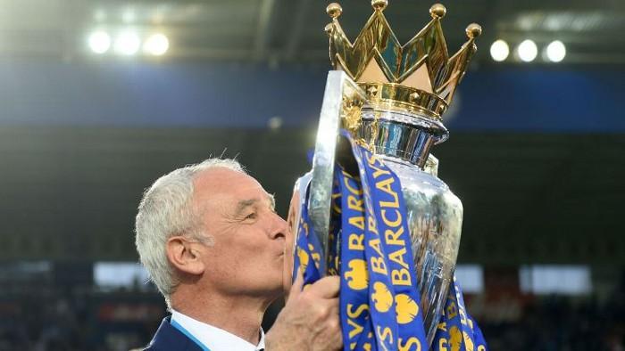 Ranieri cuando ganó la Premier League con el Leicester City
