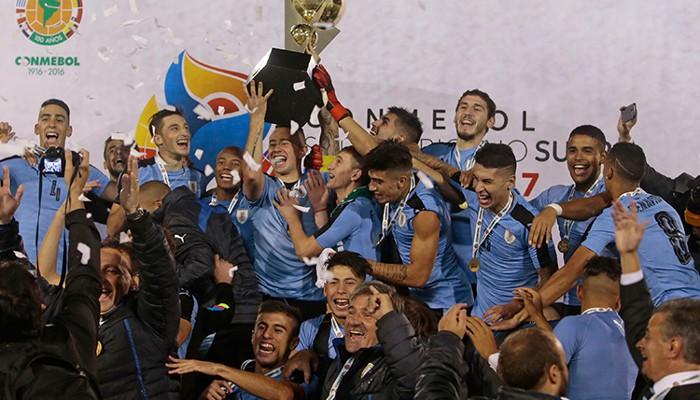La selección de Uruguay ganó el Sudamericano sub 20