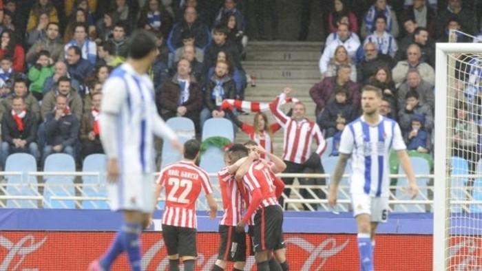 El Athletic de Bilbao ganó en Anoeta el clásico vasco